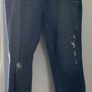 Torrid Distressed Med Wash Straight Leg Jeans 18